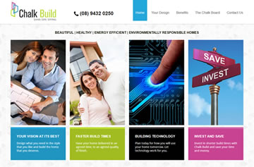 Chalk Build website - Perth web design