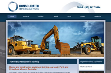 Consolidated Training Services website - Perth web design