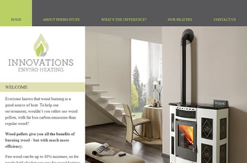 Innovations Enviro Heating website - Perth web design