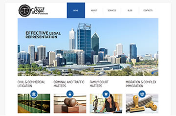 Perth Legal Answers website - Perth web design