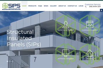 SIPS Industries website - Perth web design
