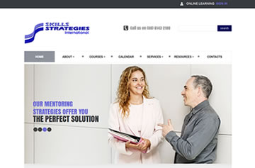 Skills Strategies International website - Perth web design